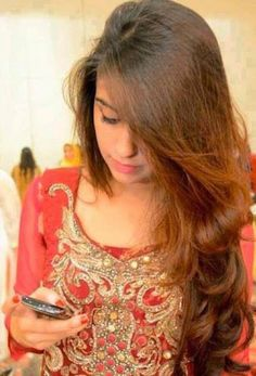 Cute and beautifull girl using cellphone a perfect profile picture for ...