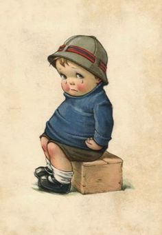 Divided Back Postcard Boy Crying Charles Twelvetrees Vintage Pictures, Vintage Images, Cute Pictures, Vintage Boys, Vintage Children, Vintage Cards, Vintage Postcards, Boy Crying, Illustrations Vintage