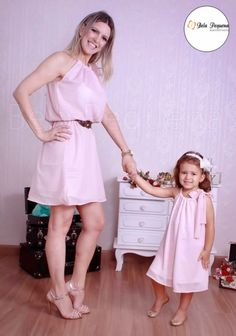 """""""Look how clean my room is. Mommy helped me. Mother Daughter Pictures, Mother Daughter Matching Outfits, Mother Daughter Fashion, Mom Daughter, Mom And Baby Dresses, Mom And Baby Outfits, Family Outfits, Kids Outfits, Baby Suit"""