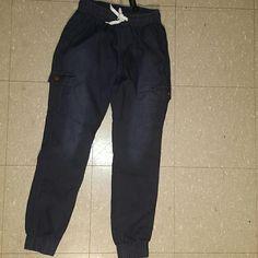 Denim Joggers New Drawsting at bottom Pockets on both sides Runs small Large=Small Pants Track Pants & Joggers