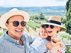 Candice King with her family at Banfi Winery on July 2018 in Montalcino, Tuscany, Italy. Beautiful Family, Beautiful Babies, Vampire Diaries, Candice King, Candice Accola, Mystic Falls, Caroline Forbes, Baby Love, Couple Goals