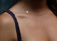 Sideways Star Necklace