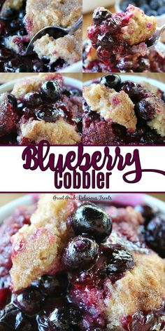 Cobbler Blueberry Cobbler is loaded with blueberries bursting with delicious flavor and has a cake like topping.Blueberry Cobbler is loaded with blueberries bursting with delicious flavor and has a cake like topping. Blueberry Cobbler Recipes, Fruit Cobbler, Fruit Recipes, Gourmet Recipes, Baking Recipes, Dessert Recipes, Cobbler Topping, Blueberry Cobler, Easy Blueberry Desserts