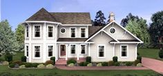 House Plan 92462 | Colonial   Victorian    Plan with 1897 Sq. Ft., 4 Bedrooms, 3 Bathrooms, 3 Car Garage