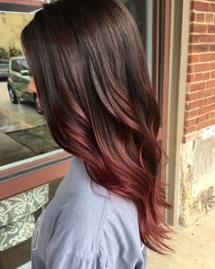 Brown to red ombré Hair, Makeup, Etc in 2019 Red balayage black and red ombre hair - Red Hair Red Balayage Hair, Auburn Balayage, Auburn Ombre Hair, Short Balayage, Red Balyage, Balayage Straight, Dark Red Balayage, Brunette Ombre Balayage, Balayage Color