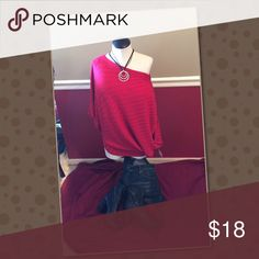 💰Lane Bryant Off the Shoulder Sweater Super cute and stylish! Looks great with jeans! Size 14/16 only. Lane Bryant Tops