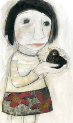 Portraits by Manon Gauthier, via Behance