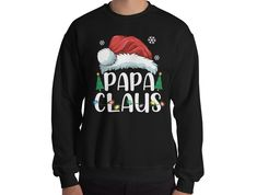 Tacky Christmas, Christmas Design, Christmas Shirts, Grandpa Gifts, Gifts For Dad, Ugly Sweater Funny, Unisex Fashion, Family Gifts, Graphic Sweatshirt