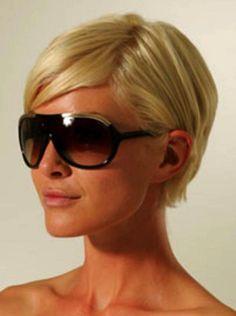 Short hair + round face + glasses