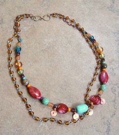 Boho Chic Necklace by TamiLopezDesigns on Etsy, $38.00
