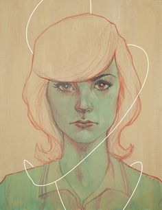 """""""Jenny"""" - from my upcoming show at Stranger Factory with Glenn Barr and Colin Christian starting July 5th.http://www.circusposterus.com/blog/phil-noto-colin-christian-and-glenn-barr-at-stranger-factory-in-july/"""