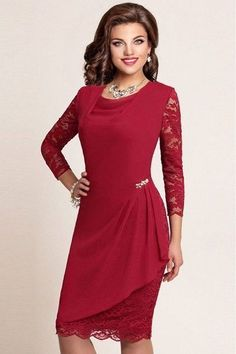 Best Seller Hanna Nikole Womens Bell Sleeves Lace Top Plus Size Cocktail Party Mermaid Dress online - Topselectsclothing Ladies Day Dresses, Mob Dresses, Dresses For Sale, Dresses Online, Chic Dress, Dress Up, Simple Gowns, Latest African Fashion Dresses, Dress Patterns