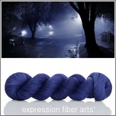I LOVE A RAINY NIGHT SHIMMERING CASHMERE FINGERING YARN BY EXPRESSION FIBER ARTS - limited edition