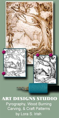 Learn Pyrography Wood Burning! Join Lora S. Irish, author of over twenty wood carving, wood burning, pyrography, and pattern books, as she teaches you the skills and techniques used in this craft. ...