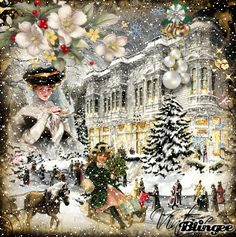 animated christmas Pictures Gallery, Most Recent [p. Christmas Scenes, Christmas Villages, Christmas Past, Winter Christmas, Christmas Crafts, Christmas Decorations, Xmas Gif, Holiday Gif, Animated Christmas Pictures