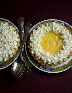 passionfruit tapioca and lemon cream tarts