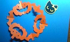 きょうは、人型シルエットの切り紙は ちょっとお休みして・・・ ハロウィン切り紙を紹介します。 ハロウィン、もうすぐですね 最近は、仮装する子どもたちも多くて、 盛り上がります おうちの中のハロウィン飾りに こんな切り紙はいかが? ジャック・オ・ランタン(かぼちゃ)とこうもりが 輪になったデザインです。 折り紙を用意して、さぁ、みんなで作りましょう ↓↓型紙はこちら <作り方> 折り紙を「6つ折り」にします。 「6つ折り」の折り方は、下記リンク先で写真解説しています。 ●6つ折りの折り方は、『桜まあちの切り紙きりえっこ』 「切り紙の作り方(6つ折り)」へどうぞ。 (* 作品は、15×15cmの折り紙を使用しています。) 上の型紙を参考に、鉛筆で下書きをします。 ...