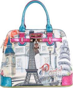 Designer bags , women fashion handbag , Print bag Buy it… Best Handbags, Fashion Handbags, Nicole Lee Handbags, Rolling Bag, Pocket Books, I Love Paris, Printed Bags, Designer Bags, Clutch Wallet
