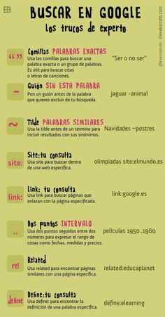 Aprende a buscar en Google. Algunos trucos: pic.twitter.com/RkMpzV0j5x Internet, Social Media, World, Google Search, Searching, Social Networks, Learning, Studios, Hacks
