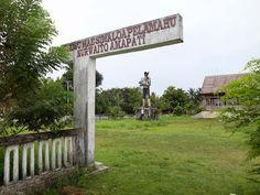 Standbeeld Pattimura (= big hearted) op Ihamahu
