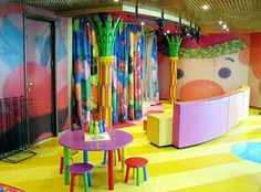 colorful playroom idea