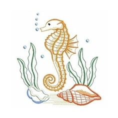 Embroidery Designs - Search Results for Sea Shells