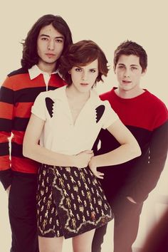 Emma Watson, Ezra Miller and Logan Lerman