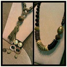 New collection at cillabijoux #cillabijoux #precollection #2012_2013 #new #necklace #earrings #olivegreen #black #gold #fashon #bijoux #details #accessories - @raffysole77- #webstagram