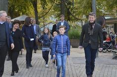 Crown Prince Frederik, Crown Princess Mary and their children Prince Vincent, Prince Christian, Princess Josephine and Princess Isabella visited Tivoli Gardens on October 11, 2015 in Copenhagen, Denmark.