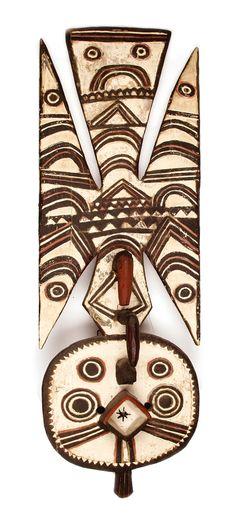 Lot 121D55 - Plank mask Bobo Burkina Faso -> Auction 121D - Text: english Version