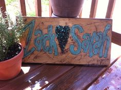 Personlized Name Sign 12 X 24 Will Custom by SignsBYDebbieHess, $45.00