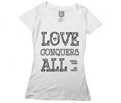 Love Conquers T-Shirt.  Amor vincit omnia.❤