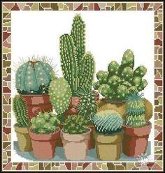 Схема вышивки «Хор кактусов»: оригинал