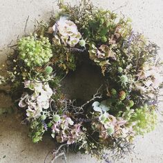 """181 Likes, 9 Comments - Wild Willow (@wildwillowflowers) on Instagram: """"Hydrangeas and blackberry summer wreath at The Country Brocante"""""""