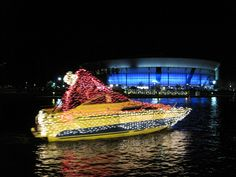Lighted Boat Parade on the Downtown Stockton waterfront. Held the first Saturday in December.
