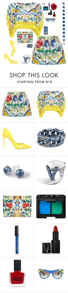 """""""Bright in Dolce and Gabbana"""" by riquee ❤ liked on Polyvore featuring Dolce&Gabbana, David Yurman, Ippolita, John Hardy, NARS Cosmetics, Butter London, RGB, Prada and Michael Kors"""