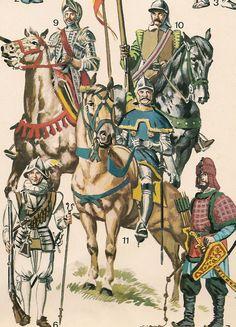 ARMADURA ESPAÑOLA (mitad del siglo XVI ).     CABALLO-LIGERO (1540).   ...