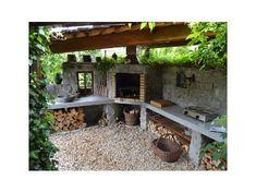 Jak jsme stavěli venkovní kuchyň | Svět pod střechou - Vintage a provence dekorace do bytu Garden Bridge, Idaho, Provence, Garden Design, Pergola, Flora, Outdoor Structures, Kitchen, Cooking