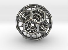 Silver Bucky 3d printed