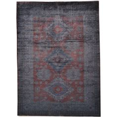 Dark Silver Overdyed Super Kazak Hand-knotted Area Rug (6' x 8') - Overstock™ Shopping - Great Deals on One Of A Kind Rugs