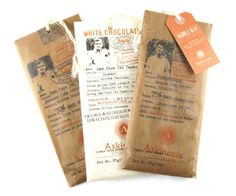Planet-friendly chocolatier Askinoise underscores its message with paper-based packaging.