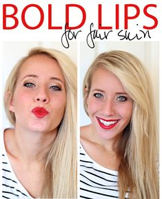 How to wear red lipstick on fair skin – perfect for date night! hmmm I might have to try and see if I can pull it off