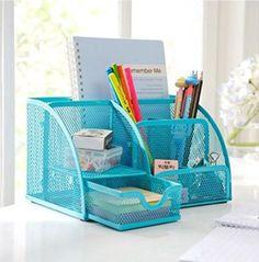 Mesh Desk Organizer Desk Supplies Combination Pen Holder Card Case Organizer Storage Box (3 Sections-blue) Superbpag http://www.amazon.com/dp/B00KRZET6E/ref=cm_sw_r_pi_dp_MTcyub1BJRPBH