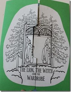 Craft: The Lion, the Witch and the Wardrobe pop up book. The inside will have elements of the story put together with pop ups. The children can color the pictures in the book. Teaching Kids, Creative Teaching, Teaching Reading, Learning, Classic Literature, Classic Books, Up Book, Chronicles Of Narnia, Book Study
