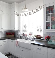 🎼 Fa la la la la... sharing my kitchen decked for Christmas on the blog today! 🎄🎅🏻 I'm joining a group of fun bloggers as part of the #allthroughthehousetour! Right now I'm home with Christmas music playing taking pics of a few more spaces to share next week! SO in my happy place. At some point I need to stop decorating and start wrapping. 😬 This month always goes by too quickly! 🎄 Kitchen details and lots of fun pics on the blog! ...🎼la la la la... 🤗 http://liketk.it/2pOH1 @liket...