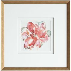 Designed with a floated top mat to add the illusion of depth, this charming print is a giclee reproduction of a contemporary floral painting. The original was c...