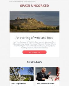 The Wine Gang email design #email #design