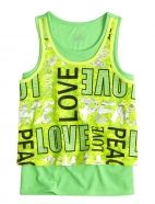 Lace Typography 2fer Tank