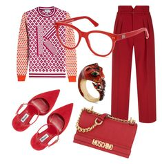 Designer Clothes, Shoes & Bags for Women Kenzo, Moschino, Balenciaga, Valentino, Gucci, Shoe Bag, Polyvore, Red, Stuff To Buy