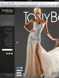 Tony bowls pageant gown